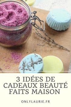 3 idées de cadeaux beauté faits maison. Des recettes beauté faciles à faire, naturelle et zéro déchet. Des idées de diy pour offrir et se faire plaisir.