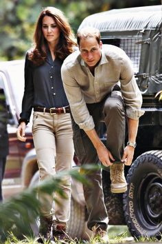 royally fashionable - I love them, but she looks like she has been styled for fashion shoot- not a day on safari