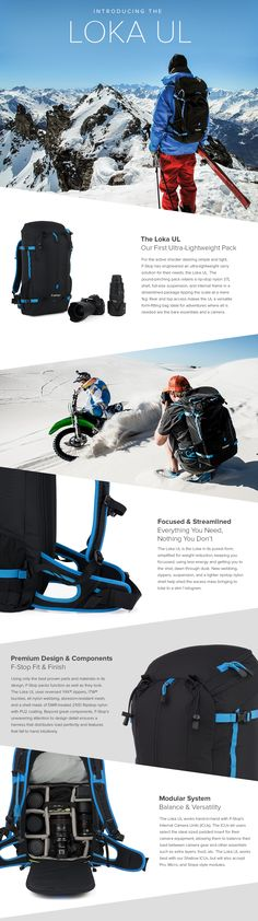 Ultra-light multifunctional backpack with modular camera compartments   Introducing the Loka UL   f 8f2dc933122