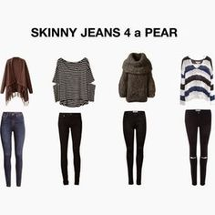 Skinny jeans on pear shaped