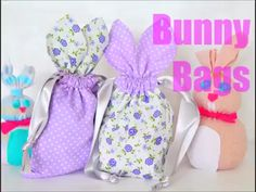 BUNNY BAGS SEWING TUTORIAL - These little Easter treat bags are so irresistibly cute and perfect for hiding Easter treats! Make a whole bunch with this super easy bunny bag pattern! Sewing Projects For Beginners, Sewing Tutorials, Sewing Crafts, Sewing Patterns, Bunny Crafts, Easter Crafts, Diy Easter Bags, Bunny Bags, Diy Ostern