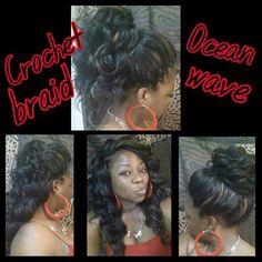 Cricket in braids Crochet Braid Styles, Crotchet Braids, Crochet Braids Hairstyles, Braided Hairstyles, Crochet Hair, Crochet Senegalese, Amazing Hairstyles, Hairstyles 2018, Curly Hair Styles