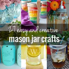 27 Easy and Creative Mason Jar Crafts | onelittleproject.com