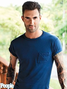 Adam Levine--- BTW WHAT DID HE DO TO HIS GLORIOUS HAIR!!!?!?!?!! Idk if Uve seen but it's now bleach blonde............... #no