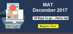 MBAUniverse: 10 Days to go for Register MAT December 2017