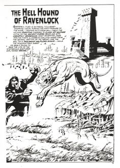 "Nick Fury, Agent of SHIELD in ""Dark Moon Rise, Hell Hound Kill"" pencilled by Jim Steranko and inked by Dan Adkins, Page 6. (Reprinted from UK Captain Britain.)"