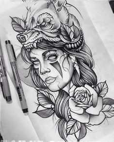 new Ideas for neo traditional tattoo design indian Neue Tattoos, Body Art Tattoos, Girl Tattoos, Sleeve Tattoos, Tattoos For Women, Tattoos For Guys, Hand Tattoos, Indian Women Tattoo, Indian Tattoo Design