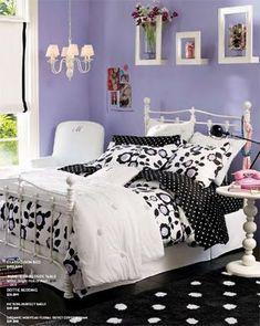 black and silver bedroom ideas · teen bedrooms painted purple