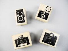 These camera stamps are totally awesome, but much too expensive.