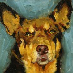 finnell fine art - etsy dog