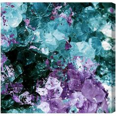 """""""Amethyst Love"""" by Artana Painting Print on Wrapped Canvas (2 530 UAH) ❤ liked on Polyvore featuring home, home decor, wall art, modern paintings, canvas wall art, modern home decor, modern canvas painting and canvas home decor"""