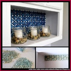 Dollar Store Crafter: Use Dollar Store Clear Glass Wafers To Make This B...