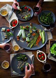 Roasted Asparagus + Bacon Spring Rolls