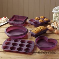 Silicone Bakeware Set 6 Piece | Cake Pans from ProCook. In orange or red