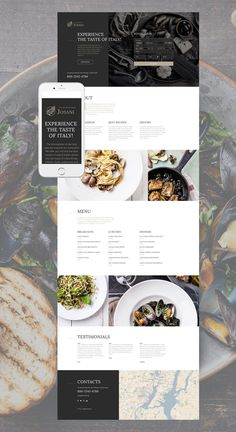 Italian Restaurant Responsive Landing Page Template #Responsive #Restaurant #Italian