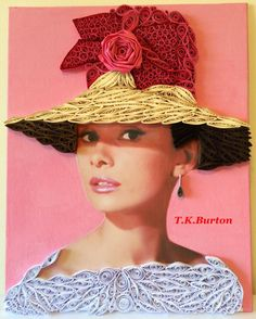 Quilled Audrey Hepburn. - quilling by Tina K. Burton