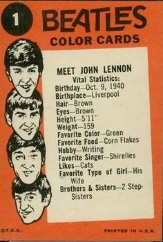 """ -John To me, Cynthia Lennon was the original Yoko Ono way long before Yoko Ono herself entered. George Harrison, Liverpool, Dark Brown Eyes, Types Of Girls, The Fab Four, Ringo Starr, Sophia Loren, Color Card, Paul Mccartney"