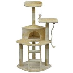 This light weight economical cat tree furniture makes a good scratcher for your cat. It is made of faux fur, wood and sisal rope. It is easy to assemble and tools / instructions are included. Cat Tree House, Cat Tree Condo, Cat Condo, Tree Furniture, Furniture Sale, Vintage Furniture, Litter Box Enclosure, Cat Activity, Cat Perch