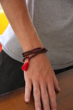 6mm Rosewood Mala Meditation Inspired Yoga Beads by malasanmore