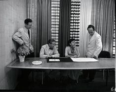 Herbert Matter, Hans Knoll, Florence Knoll and Harry Bertoia