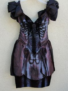 upcycled Black skeleton dress for dia de los muertos day of the dead halloween costume / size Medium stretchy ruched ruffle party small 3/4