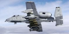 """Fairchild Republic A-10 Thunderbolt """"Warthog."""" With its GAU-8/A 30 mm seven-barrel Avenger cannon and armed with missiles or bombs, it is loaded for bear!"""