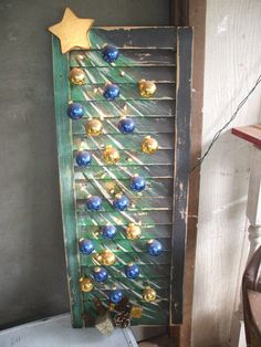 Christmas Tree Shutter by ReInventingTheWheel1 on Etsy, $35.00
