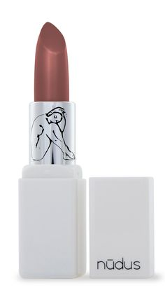 Lipstick in 27 Kisses from Nudus. With castor seed oil, beeswax & avocado oil.