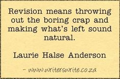 on revision - Laurie Halse Anderson
