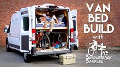 DIY Camper Van Conversion Bed Build, Converts To A Couch! Buddy Bench, Van Bed, Diy Platform Bed, Life Hacks, Camper Conversion, Camper Life, Sprinter Van, Vw Bus, Volkswagen Transporter