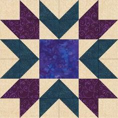Starburst Block - beautiful block design with instructions for creation including Accuquilt GO! dies.