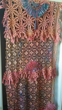 Boho Door Curtain Closet Entryway Antique Linens Marble Dyed