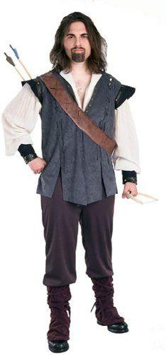 Mens Medieval Innkeeper Landlord Robin Hood Fancy Dress Costume Outfit Large