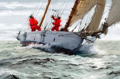 British painter Richard Macneil is a self taught artist who has always worked in the creative industry. Born in Worcester, UK in Artwork Display, The Masterpiece, Tall Ships, Western Art, Canvas Art Prints, Framed Canvas, Framed Prints, Artist Canvas, Sculpture