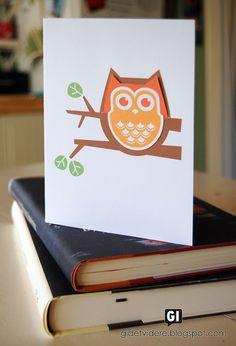 Gi det videre | Pay it forward: Bokugler med kort | Owl bookmarks and card