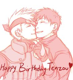 Technically I already did a happy birthday from Kakashi drawing, but I wanted to draw something fluffy, too. :T