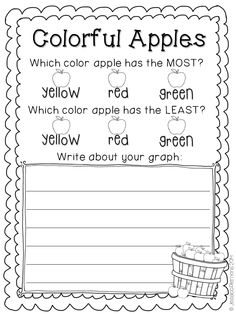 Try this Sort and Graph pack! Students sort the cards and then complete the graph. Then students analyze their data and write about their graph. Students learn to write about things other than just the items that have the most/least.   There are 30+ graphs, response pages and matching cards for sorting included for a years worth of graphing.