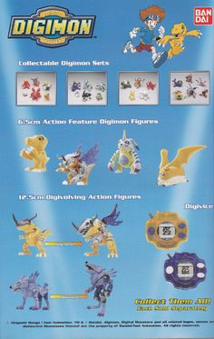 Advert for Bandai Digimon toys and digivices. Pokemon Go List, Digimon Digital Monsters, Card Captor, Digimon Adventure, Toys R Us, 90s Kids, Toy Boxes, Me Me Me Anime, Awesome Stuff