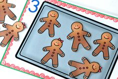 Five Little Gingerbread Men Counting Game Composing Five