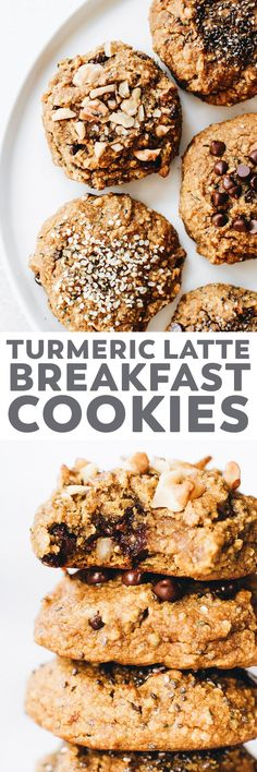 Soft, spiced turmeric cookies with a latte-inspired coffee kick! Easy to make. Customizable mix-in options. Snack, breakfast, or dessert. #vegan #recipe #glutenfree #paleo #grainfree #cookies #turmeric #healthy #snack #breakfast #sponsored #nielsenmasseypartner
