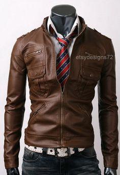 Élégante veste en cuir des poches Zip Pocket par ETSYDESIGNS72, $149.00
