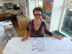 Illustrator Lynne Chapman shows sheets of her original sketches and explains how she creates different animal personalities, bringing them to life as picture...