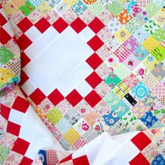 Scrap Busting - An Irish Chain Quilt   © Red Pepper Quilts 2017
