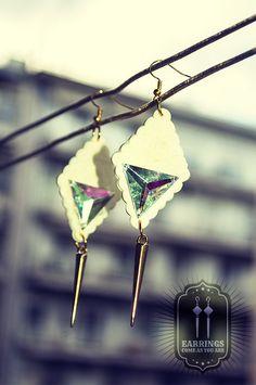 White Dark Spirit Earrings Dark Spirit, Victorian Gothic, Arrow Necklace, Chokers, Fashion Jewelry, Earrings, Ear Rings, Stud Earrings, Trendy Fashion Jewelry