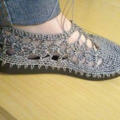 sapatos de croche com graficos - Google Search