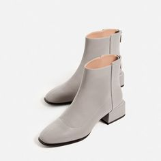 Image 1 of SQUARE HEEL ANKLE BOOTS from Zara