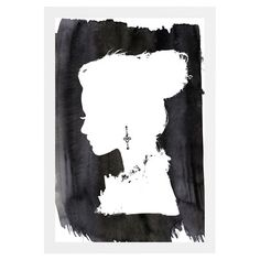 Add a touch of serene style to your living room or master suite with this hand-framed print, featuring a woman's silhouette over a watercolor-inspired backgr...
