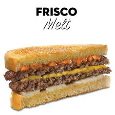 Copycat Steak 'n' Shake Frisco Melts @keyingredient #cheese #sandwich #tomatoes #bread