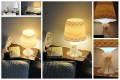 Csipkelámpa - Masni, Lace lamp, IKEA Lampan hack DIY