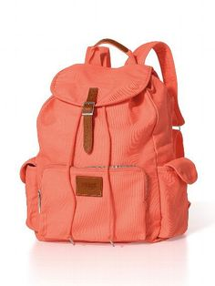 Wish I had this peach backpack!